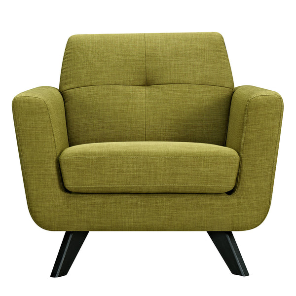 Avocado Green Dania Armchair - Black