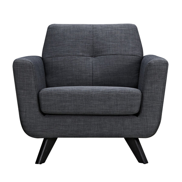 Charcoal Gray Dania Armchair - Black
