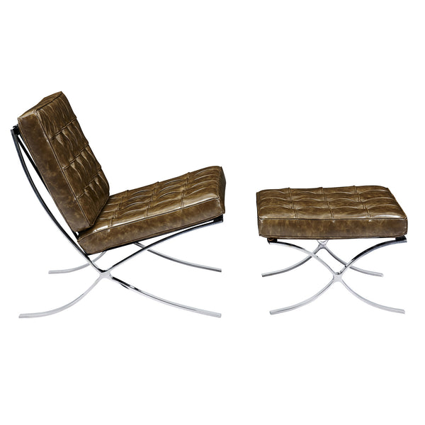 Tremendous Palermo Olive Mies Chair And Ottoman Nyekoncept Gmtry Best Dining Table And Chair Ideas Images Gmtryco