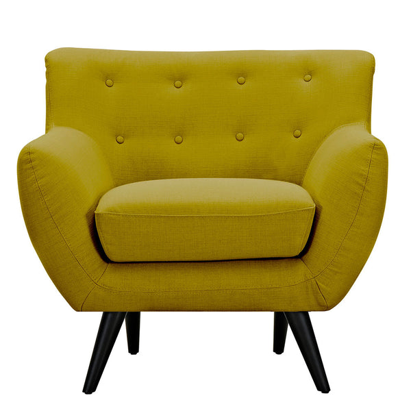 Avocado Green Ida Armchair -Black
