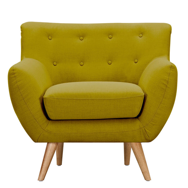 Avocado Green Ida Armchair -Natural