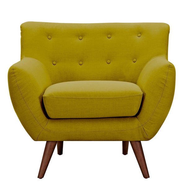 Avocado Green Ida Armchair -Walnut
