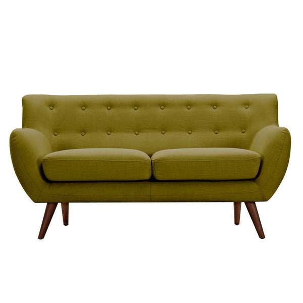 Avocado Green Ida Loveseat - Black