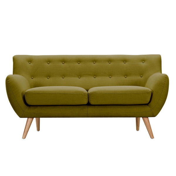 Avocado Green Ida Loveseat - Walnut