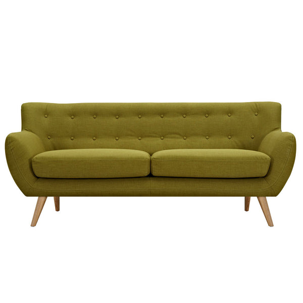 Avocado Green Ida Sofa - Natural
