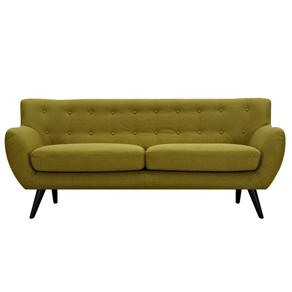 Avocado Green Ida Sofa - Black