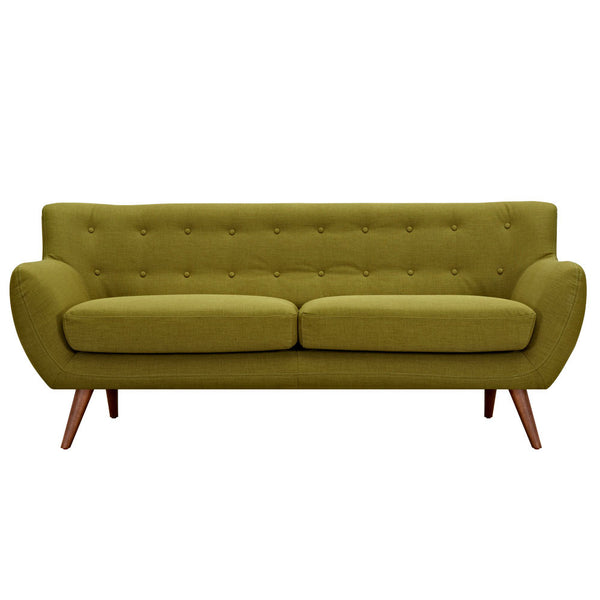Avocado Green Ida Sofa - Walnut