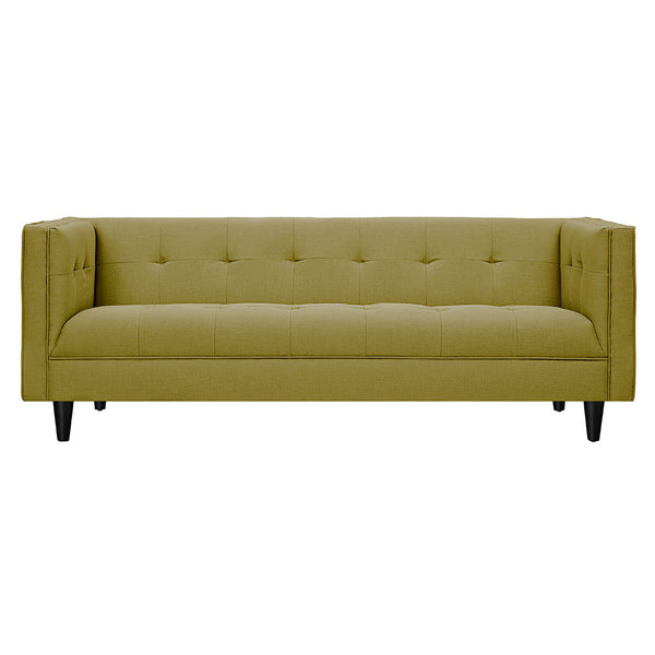 Avocado Green Kaja Sofa - Black