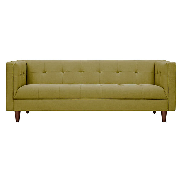 Avocado Green Kaja Sofa - Walnut