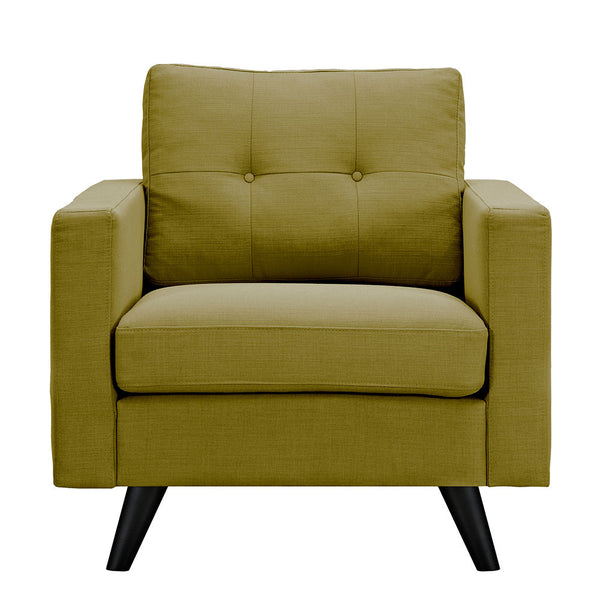 Avocado Green Uma Armchair - Black
