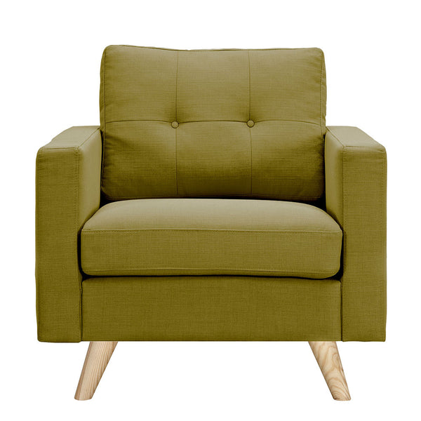 Avocado Green Uma Armchair - Natural