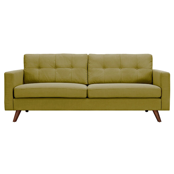 Avocado Green Uma Sofa - Walnut