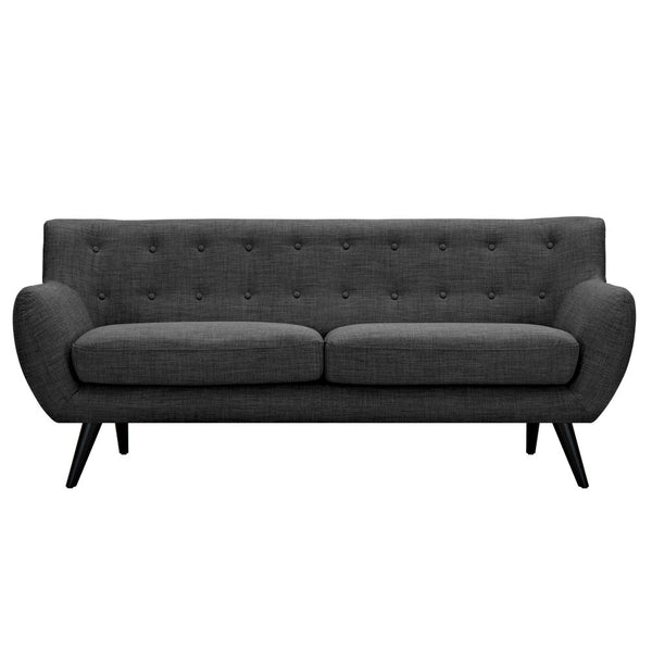 Charcoal Gray Ida Sofa - Black
