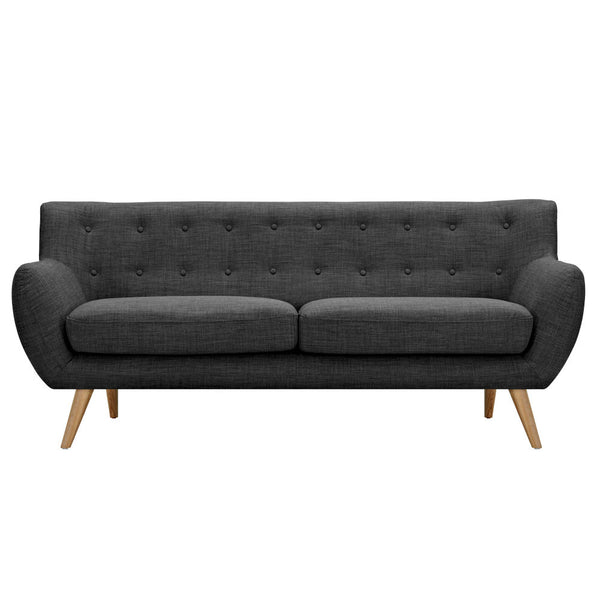 Charcoal Gray Ida Sofa - Natural