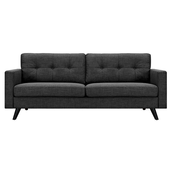 Charcoal Gray Uma Sofa - Black