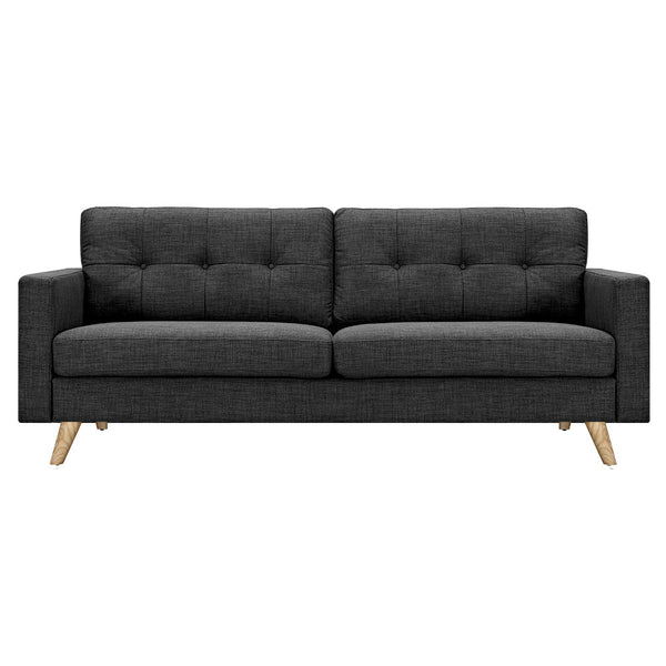 Charcoal Gray Uma Sofa - Natural