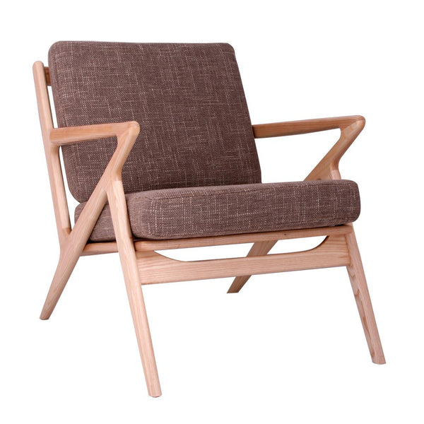 Deep Taupe Zain Chair-Natural