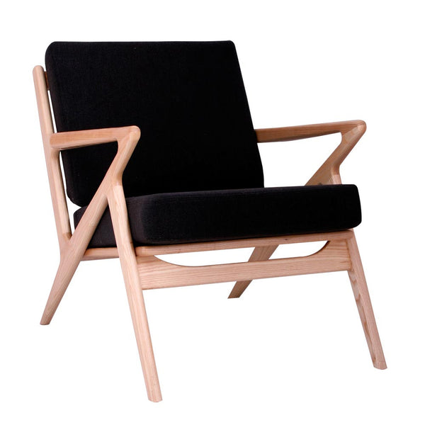 Jet Black Zain Chair - Natural