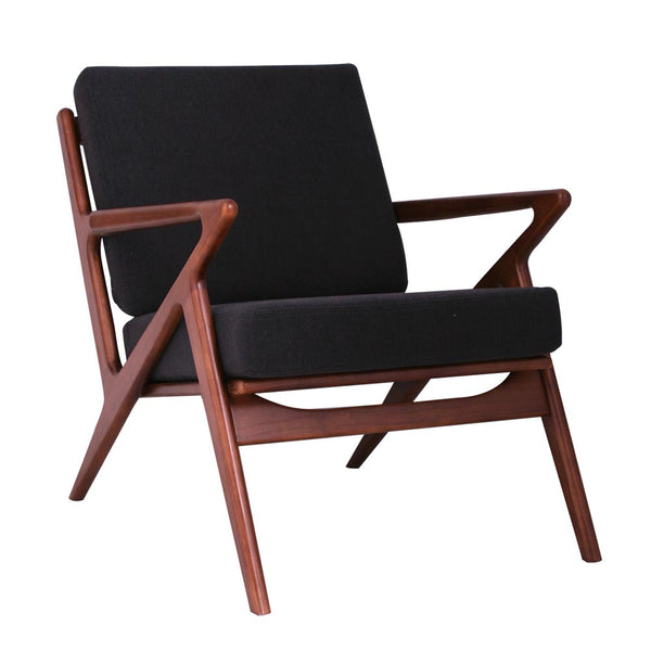 Jet Black Zain Chair - Walnut