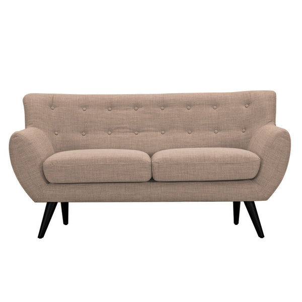 Light Sand Ida Loveseat - Black