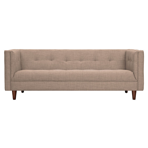 Light Sand Kaja Sofa - Walnut