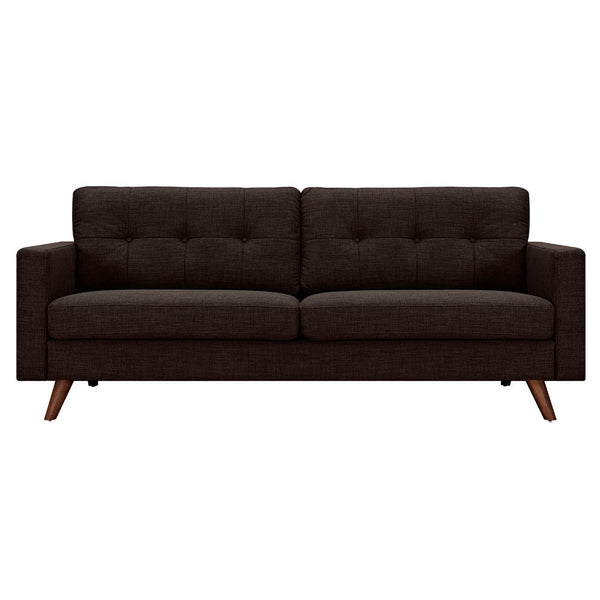 Mocha Brown Uma Sofa - Walnut