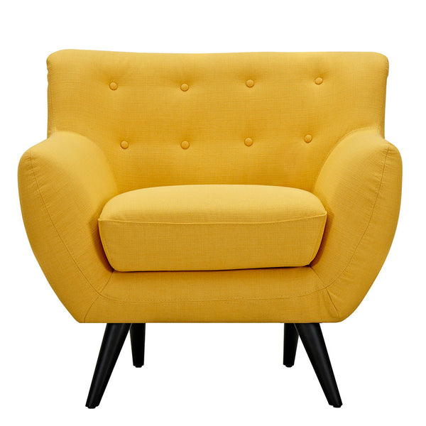 Papaya Yellow Ida Armchair -Black