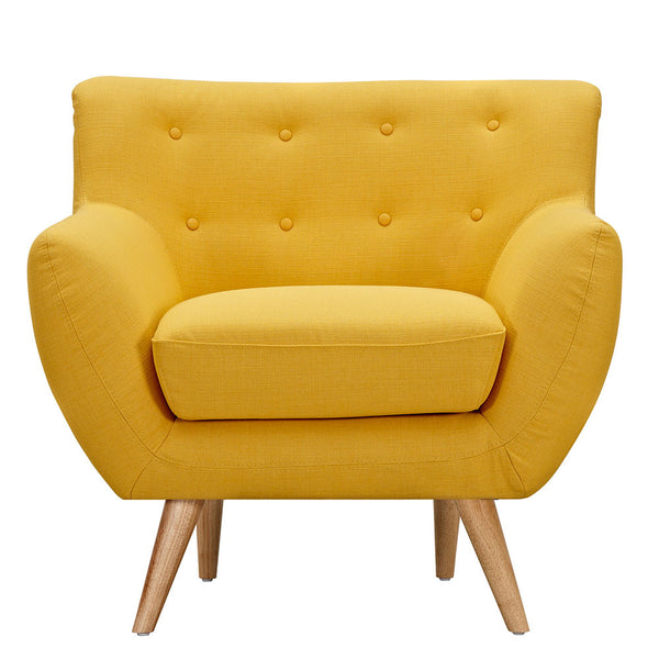 Papaya Yellow Ida Armchair -Natural