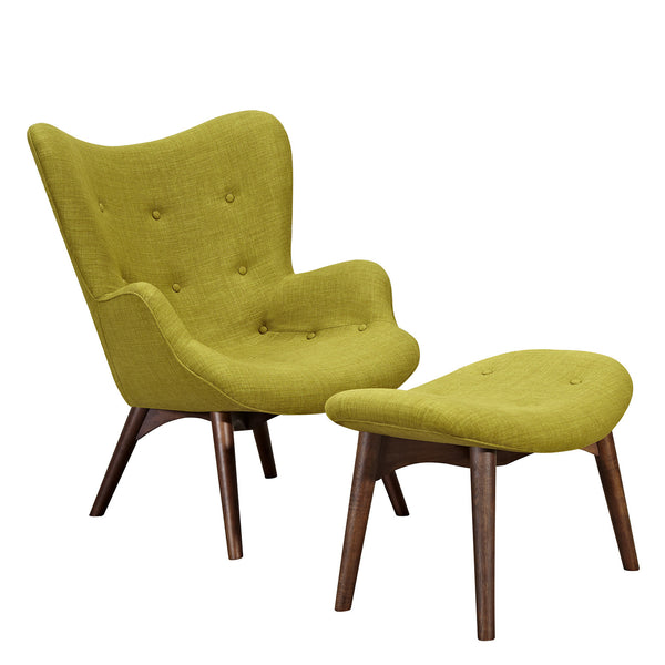 Avocado Green Aiden Chair-Walnut