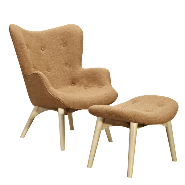 Camel Brown Aiden Chair-Natural