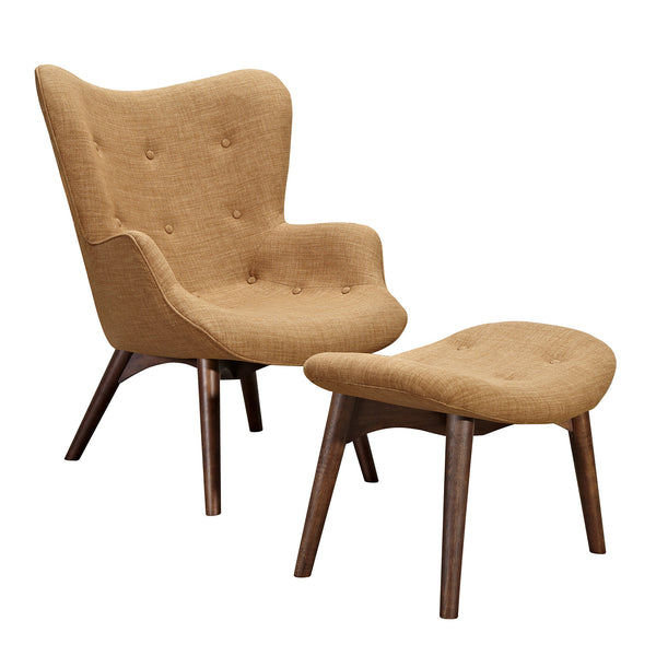 Camel Brown Aiden Chair-Walnut