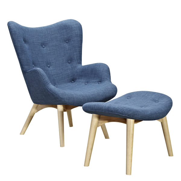 Dodger Blue Aiden Chair-Natural