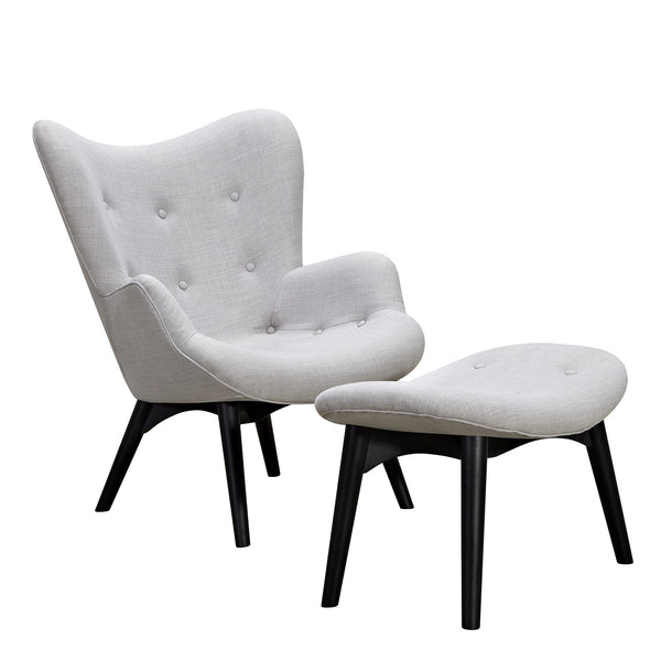 Glacier White Aiden Chair-Black