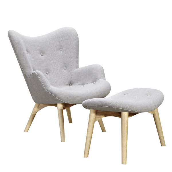 Glacier White Aiden Chair-Natural