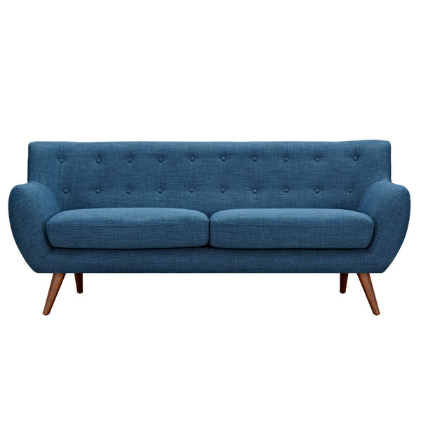 Stone Blue Ida Sofa - Walnut