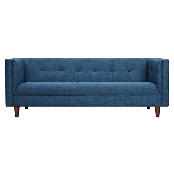 Stone Blue Kaja Sofa - Walnut