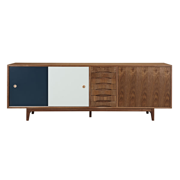 Teal and Mint Alma Sideboard- Walnut