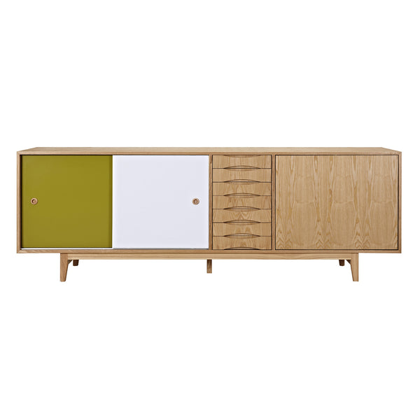 Green and Blue Alma Sideboard- Natural