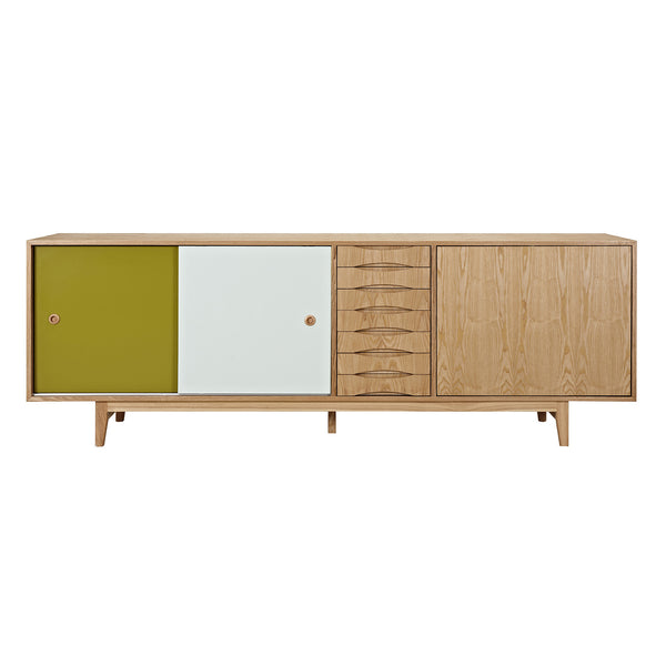 Green and Mint Alma Sideboard- Natural