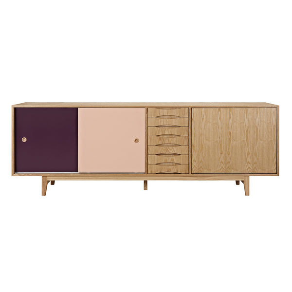 Plum and Peach Alma Sideboard- Natural