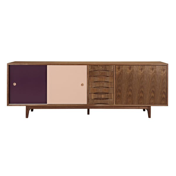 Plum and Peach Alma Sideboard- Walnut