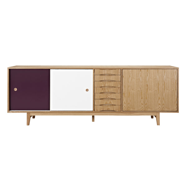 Plum and White Alma Sideboard- Natural