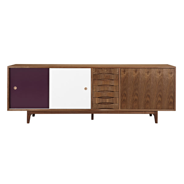Plum and  White Alma Sideboard- Walnut
