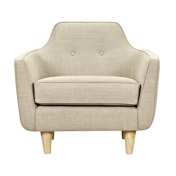Light Sand Agna Armchair - Natural