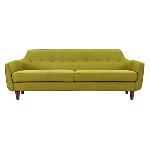 Avocado Green Agna Sofa - Walnut
