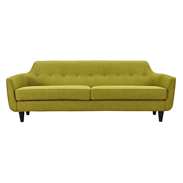 Avocado Green Agna Sofa - Black