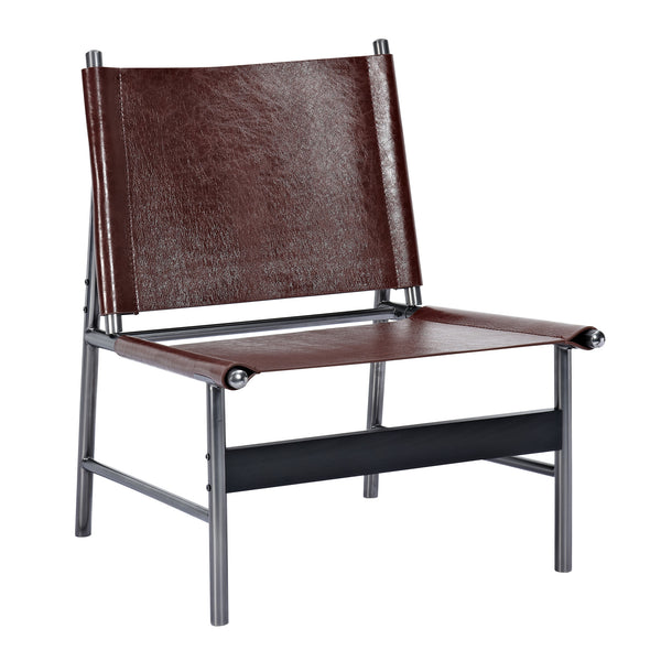 Aged Cognac Slad Chair - Black