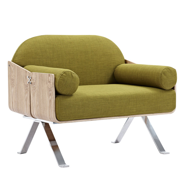 Avocado Green Jorn Chair - Natural