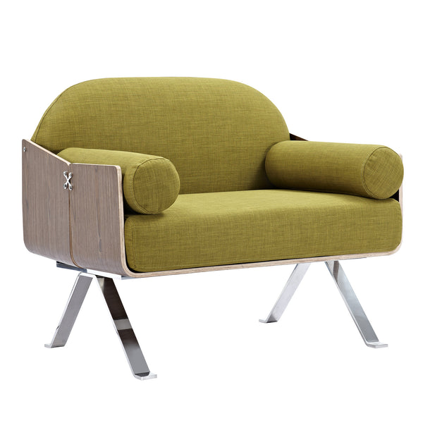 Avocado Green Jorn Chair - Walnut