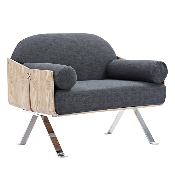 Charcoal Gray Jorn Chair - Natural